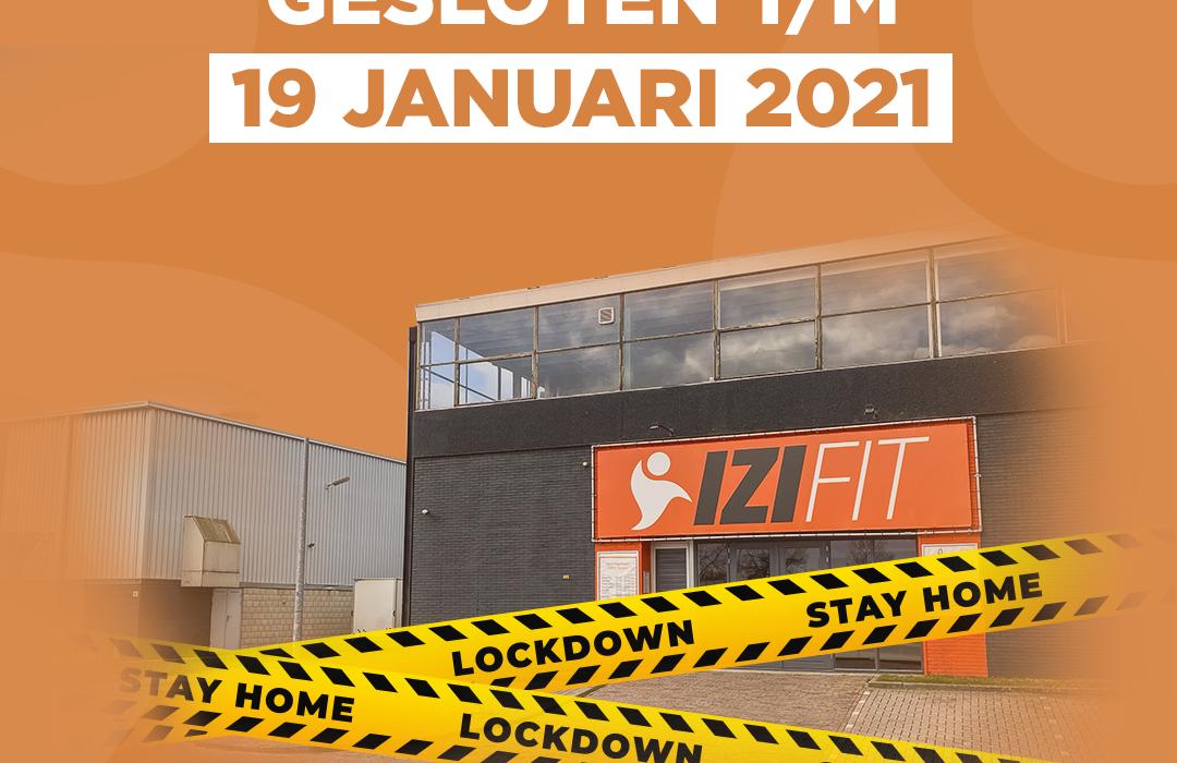 Gesloten | lockdown | IZI Fitness Huizen